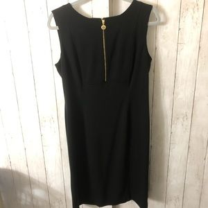 Black dress with zipper detail size 12